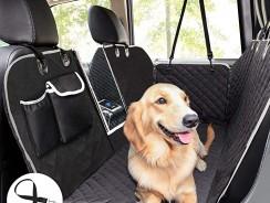 Housse de Siège pour Chien 100% Imperméable Pecute : la protection de siège auto avec fenêtre de visualisation